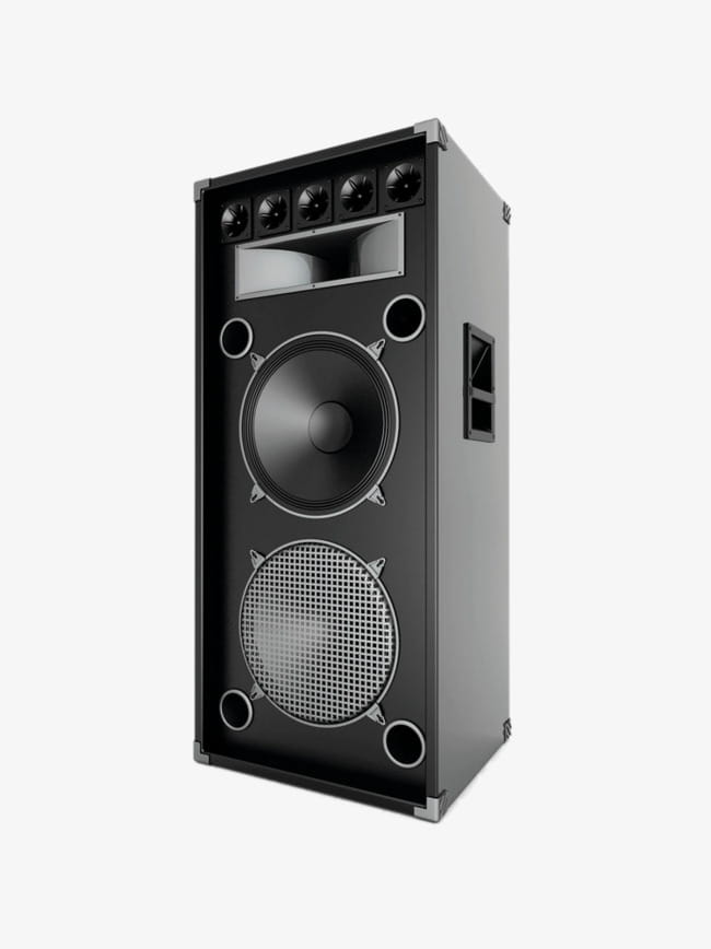 Large stereo speakers hd PNG clipart.