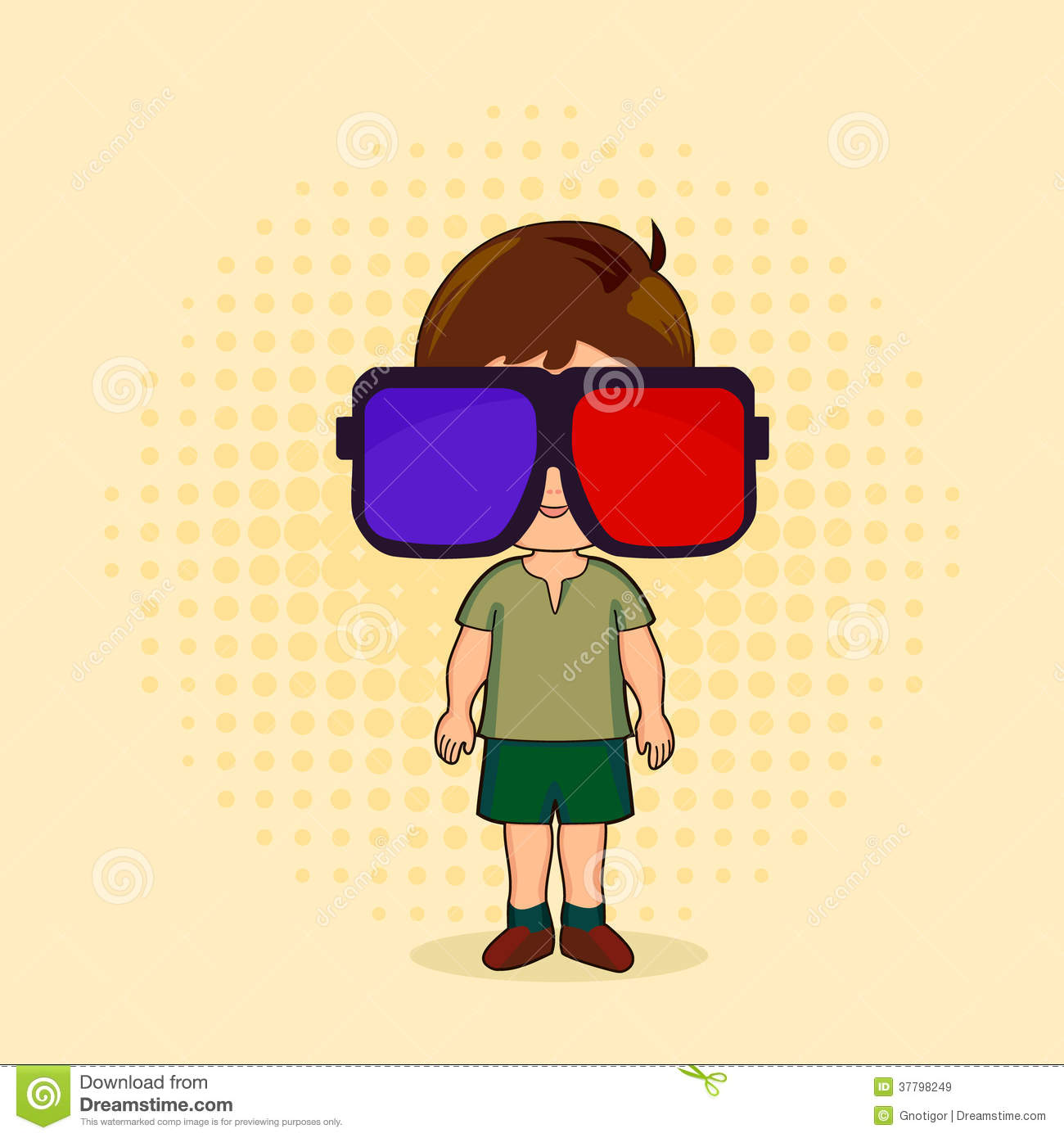 Viewing Stereo Vision Royalty Free Stock Images.