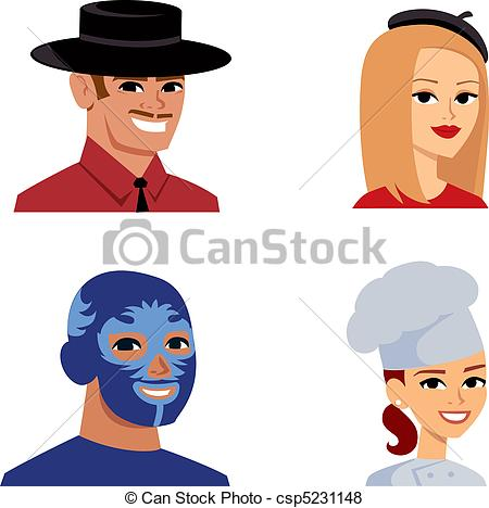 Stereotype Clipart Vector Graphics. 690 Stereotype EPS clip art.