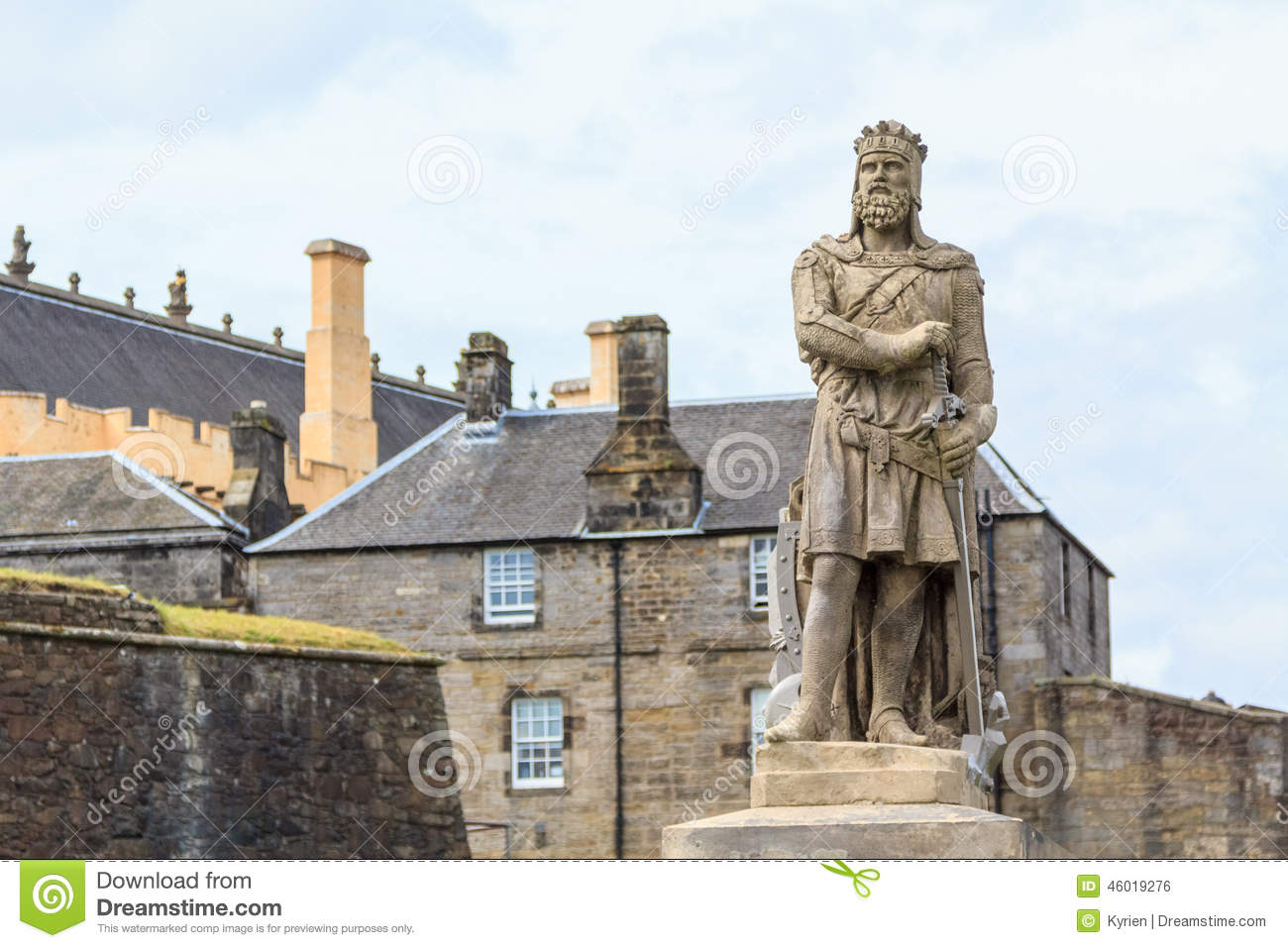 Robert The Bruce, King Of Scots Stock Photo.