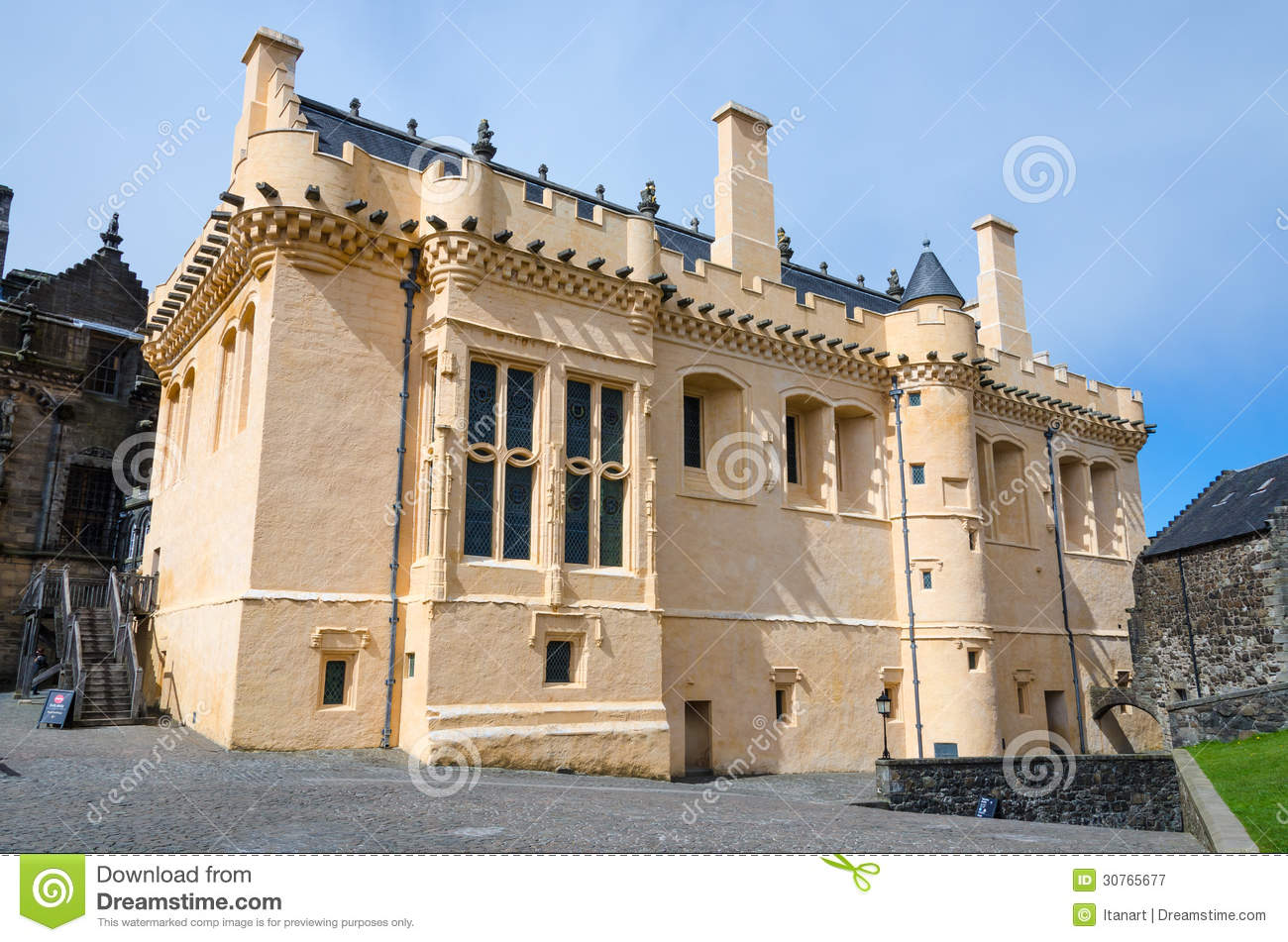 The Great Hall At Stirling Castle, Scotland Royalty Free Stock.