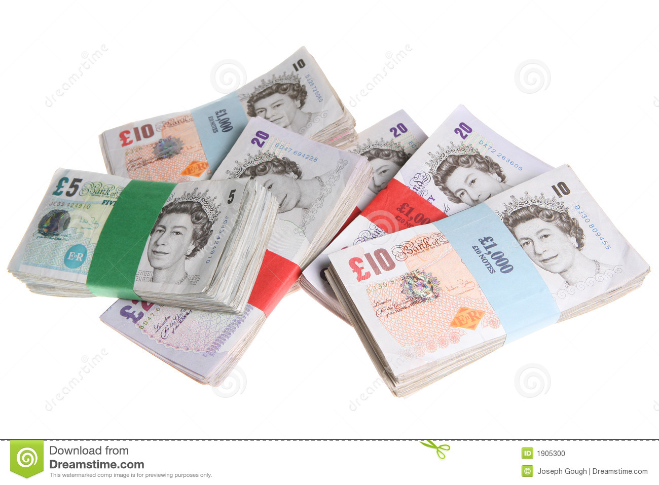 Sterling Notes Money Currency Editorial Image.