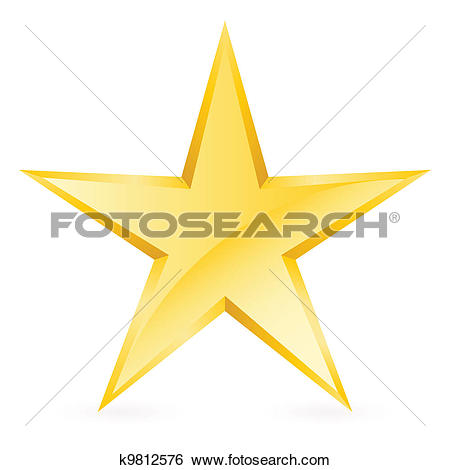 Clip Art of yellow star icon k7599129.