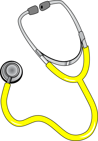 Yellow Stethoscope Clip Art at Clker.com.
