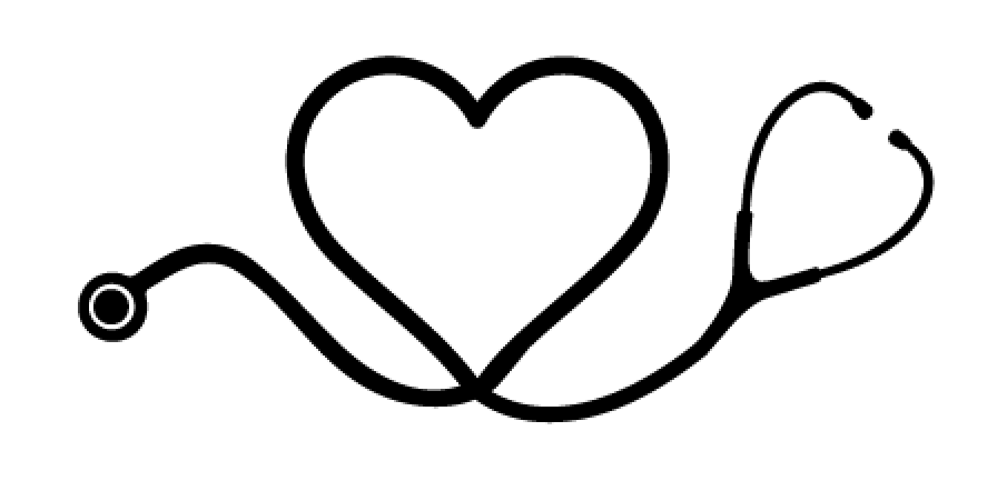 Heart stethoscope sticker vectec vinyl inc clipart.