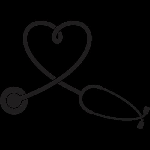 Stethoscope Heart Nursing Clip art.
