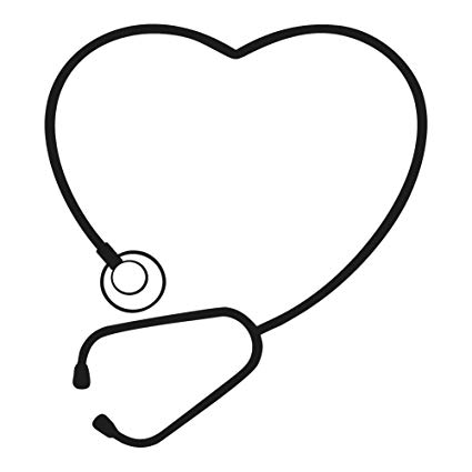 Cute Stethoscope Heart Art.