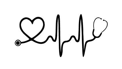 Amazon.com: GBVinylsnDecals White EKG Stethoscope Heart.