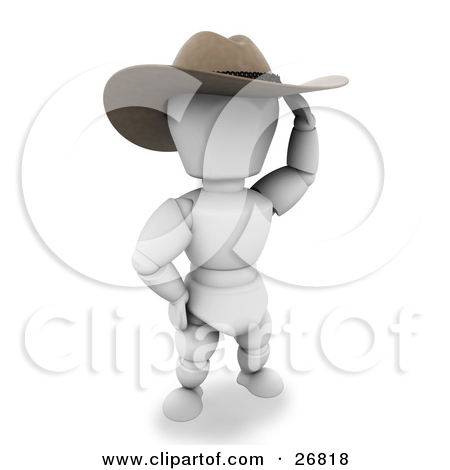 Clipart Illustration of a Western Sheriff White Character In A.