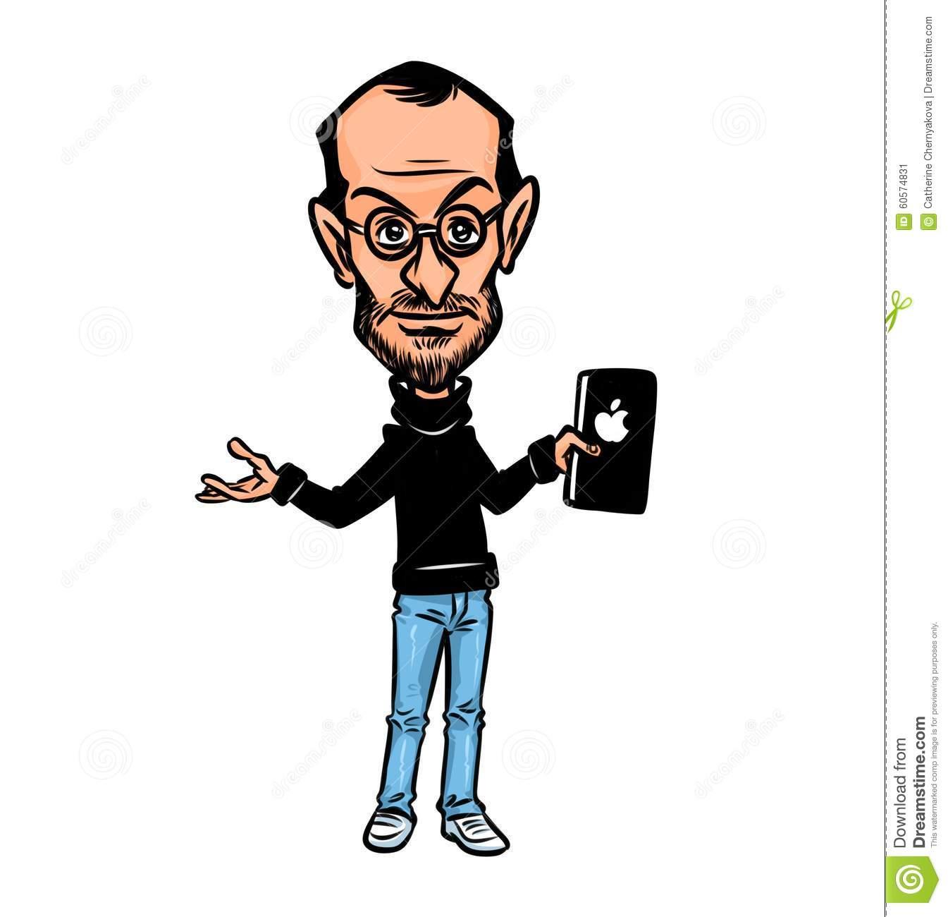 Steve Jobs Clip Art.