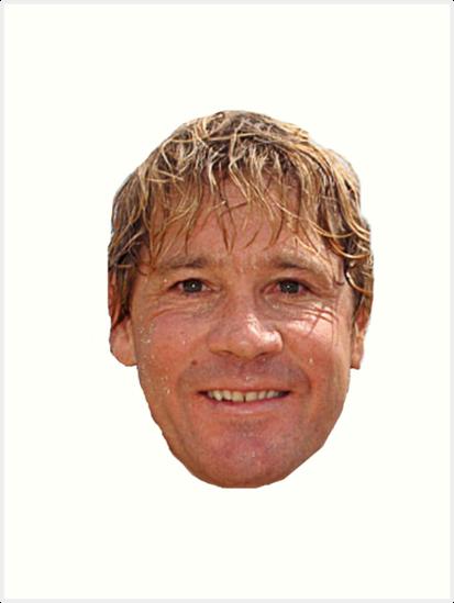 \'Steve Irwin head\' Art Print by jackiekeating.