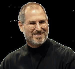Steve Jobs Smiling transparent PNG.
