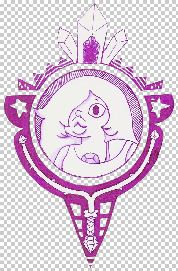 Steven Universe Symbol Gemstone Crystal Amethyst, amethyst.