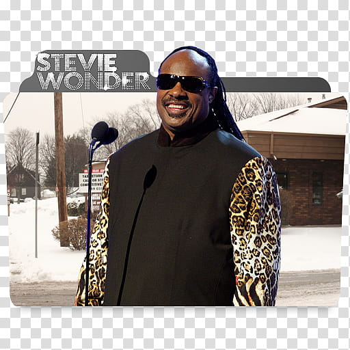 Stevie Wonder Folder Icon transparent background PNG clipart.