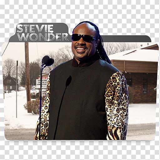 Stevie Wonder Folder Icon transparent background PNG clipart.