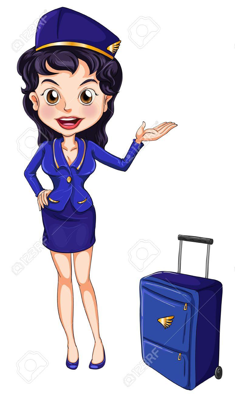Flight Stewardess Clipart.