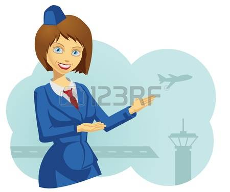 3,593 Stewardess Stock Vector Illustration And Royalty Free.