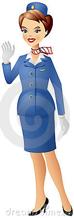 Stewardess Uniform Stock Illustrations.