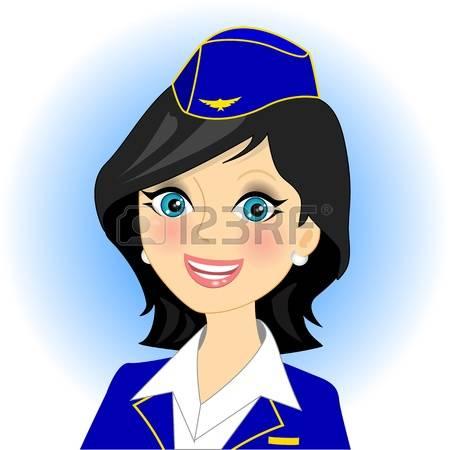 Как рисовать стюардессу