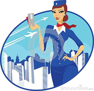 Stewardess 20clipart.