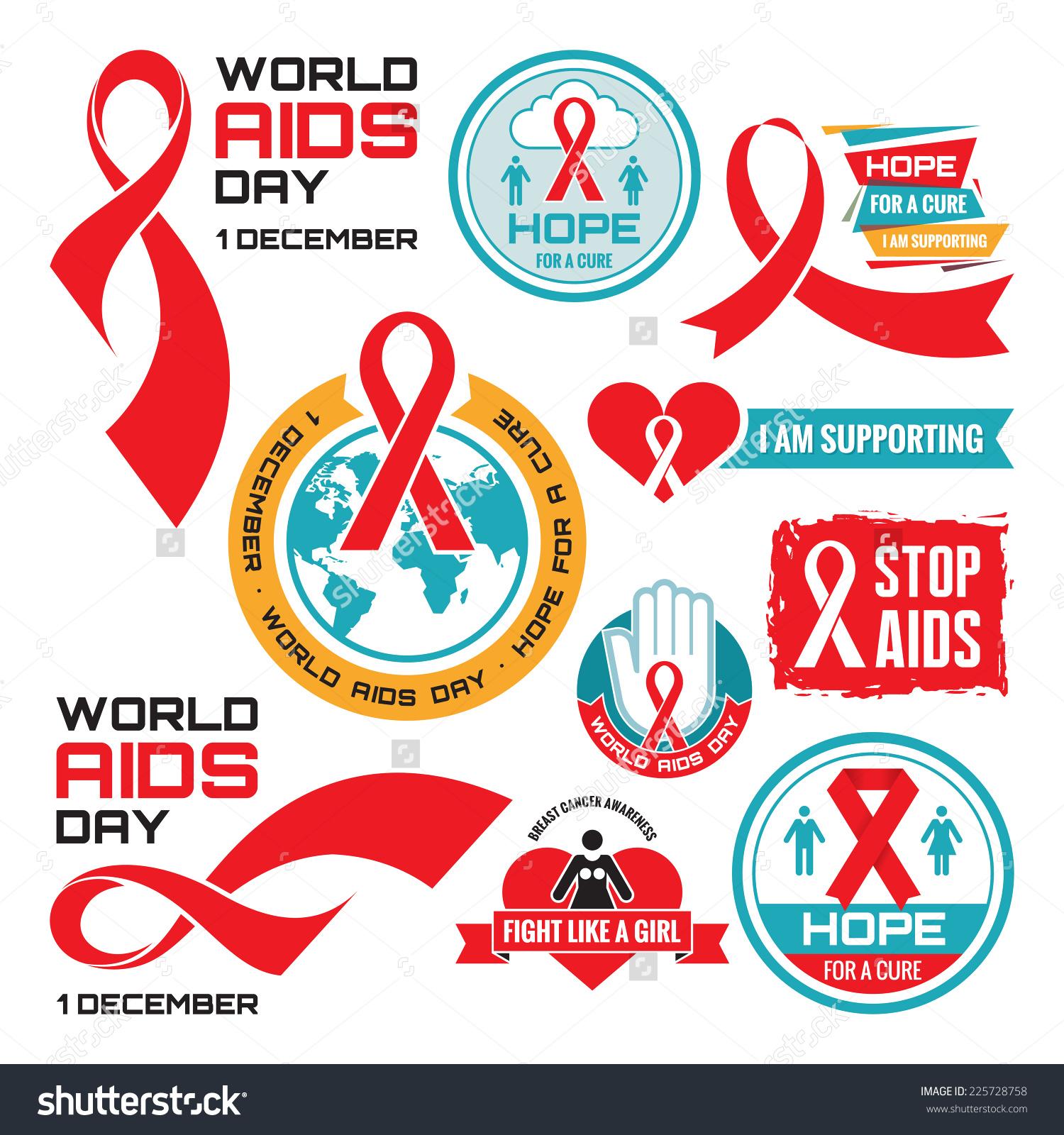 HIV AIDS Stop Sign Clip Art.