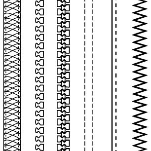 Free Fashion Design Brushes: Zippers & Stitching clip arts, free.