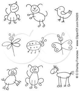 Stick animals clipart 7 » Clipart Portal.
