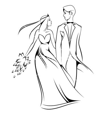 Bride and groom clipartcute bride stick figures clip art.