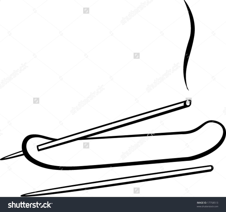 Agarbatti sticks clipart.