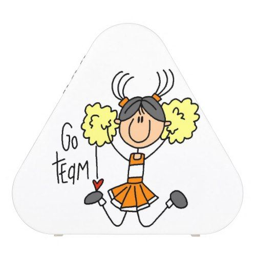Orange Go Team Cheerleader Speaker.