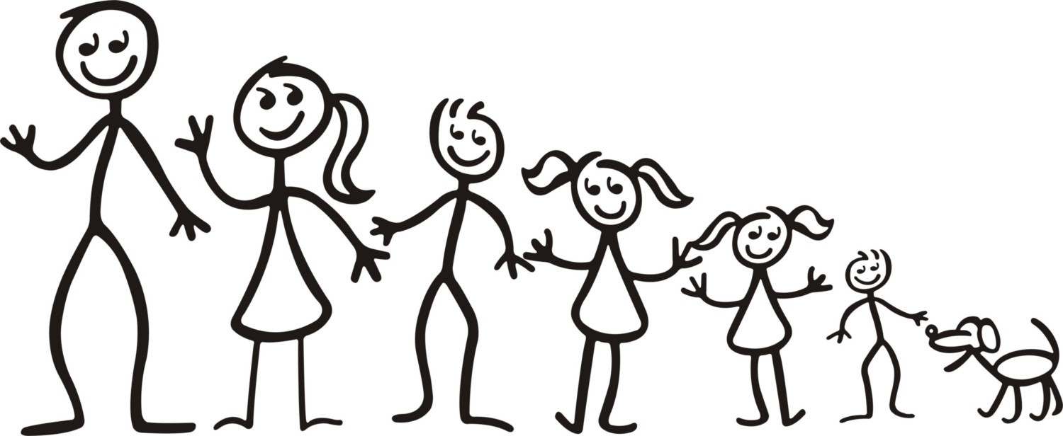 Free Stick Family Clipart Image.