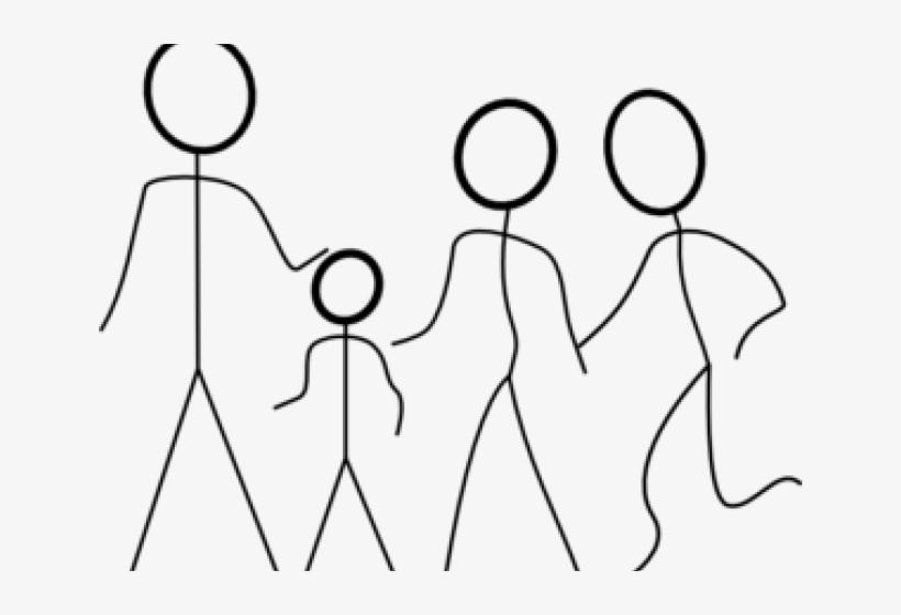 Stick Family Cliparts.