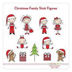 Christmas Family Stick Figures.