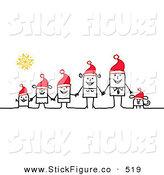 Royalty Free Christmas Stock Stick Figure Designs.