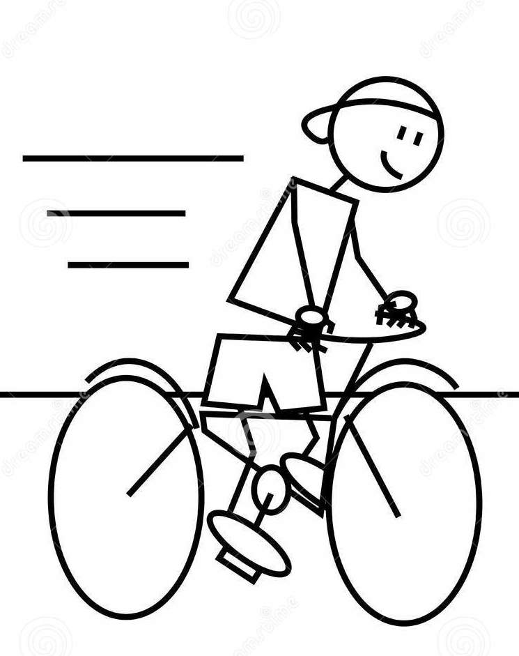 Download stick figure riding bike clipart Stick figure Bicycle.