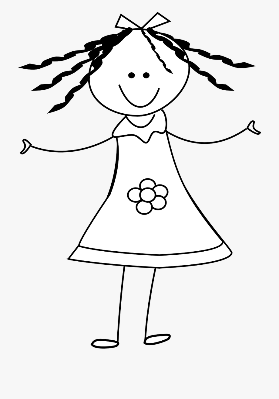 Female Clipart Stick Figure.