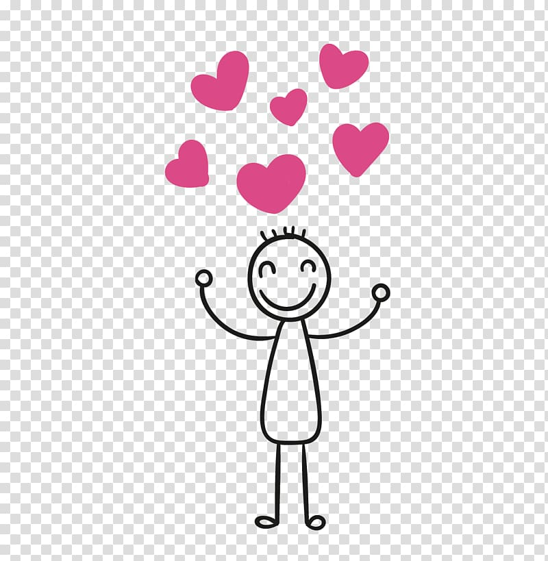 Stick figure couple Drawing , Happy transparent background.