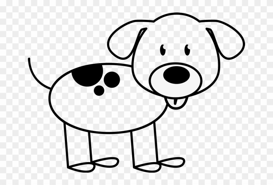 Dog Spots On Back Outline Stamp.