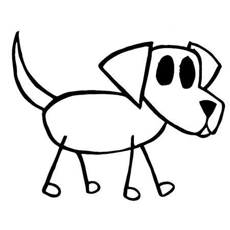 How To Draw A Stick Figure Dog.
