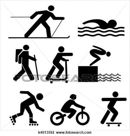 Stick Figure Exercise Clipart.