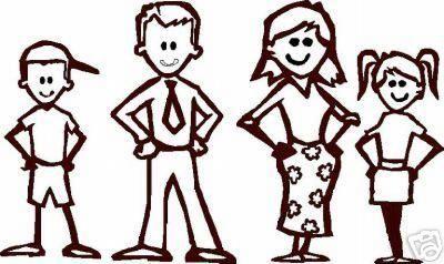 Stick Figure Family.