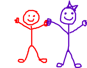 Stick Figure Kids/friends Clip Art at Clker.com.