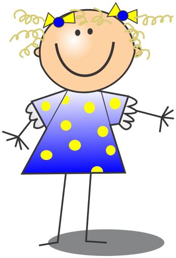 Stick Figure Girl Clip Art.