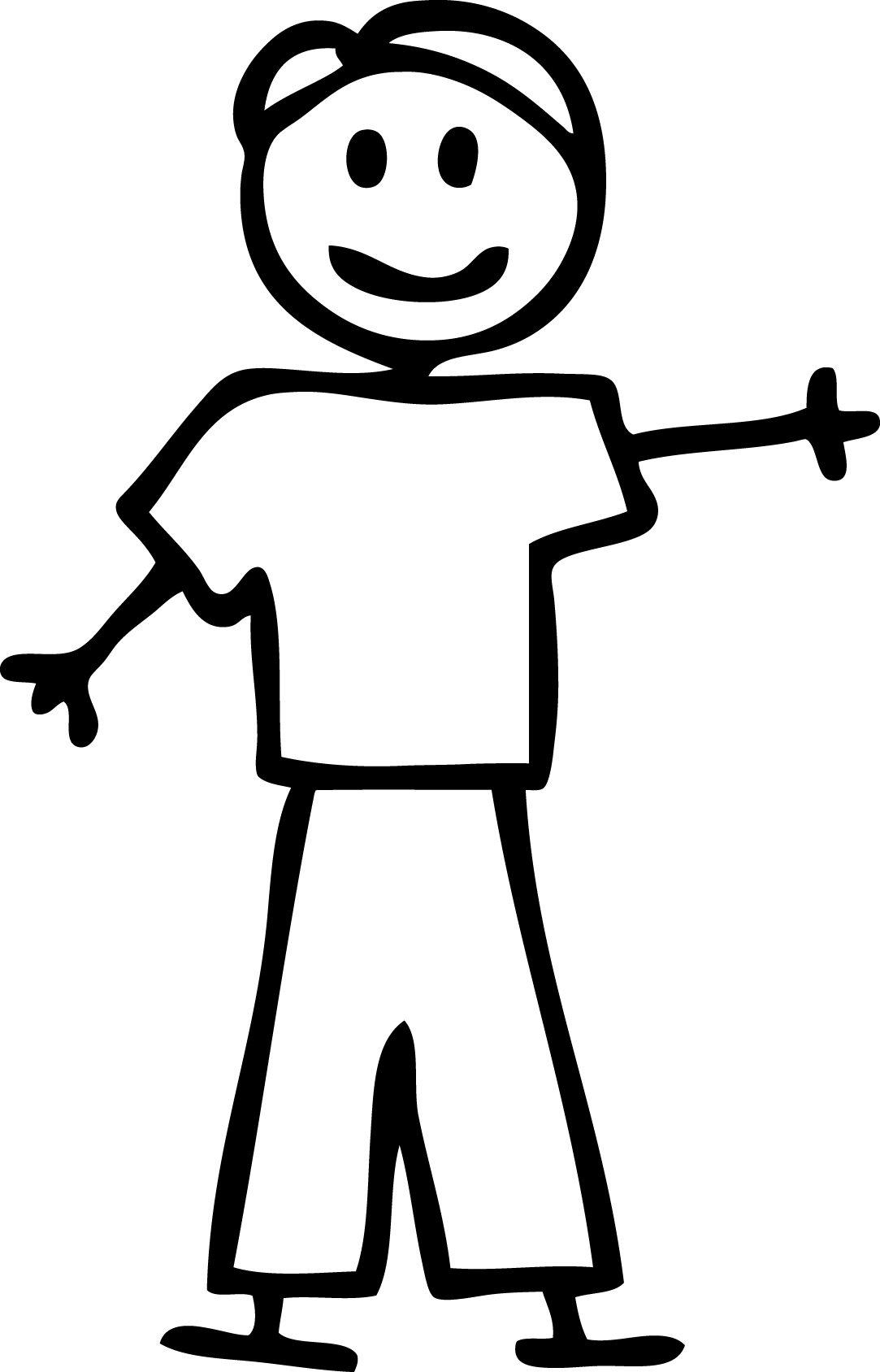 Stick person weak man stick figure clipart clipartfox.