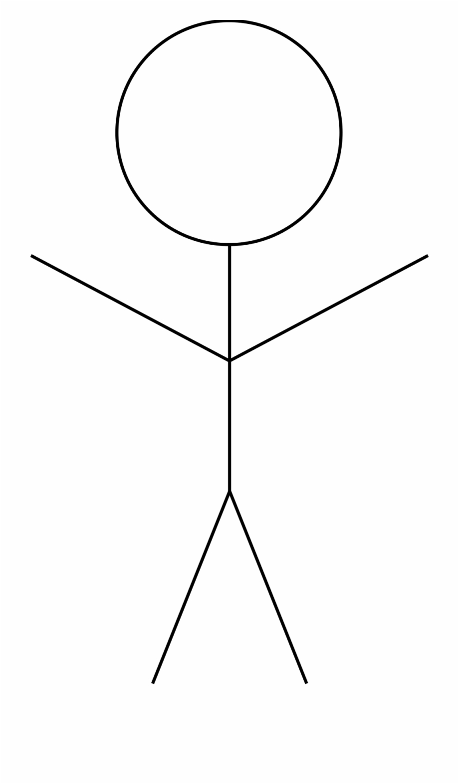 Drawing Stickman Happy.