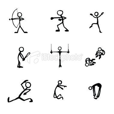 Stick Figure People Sports.