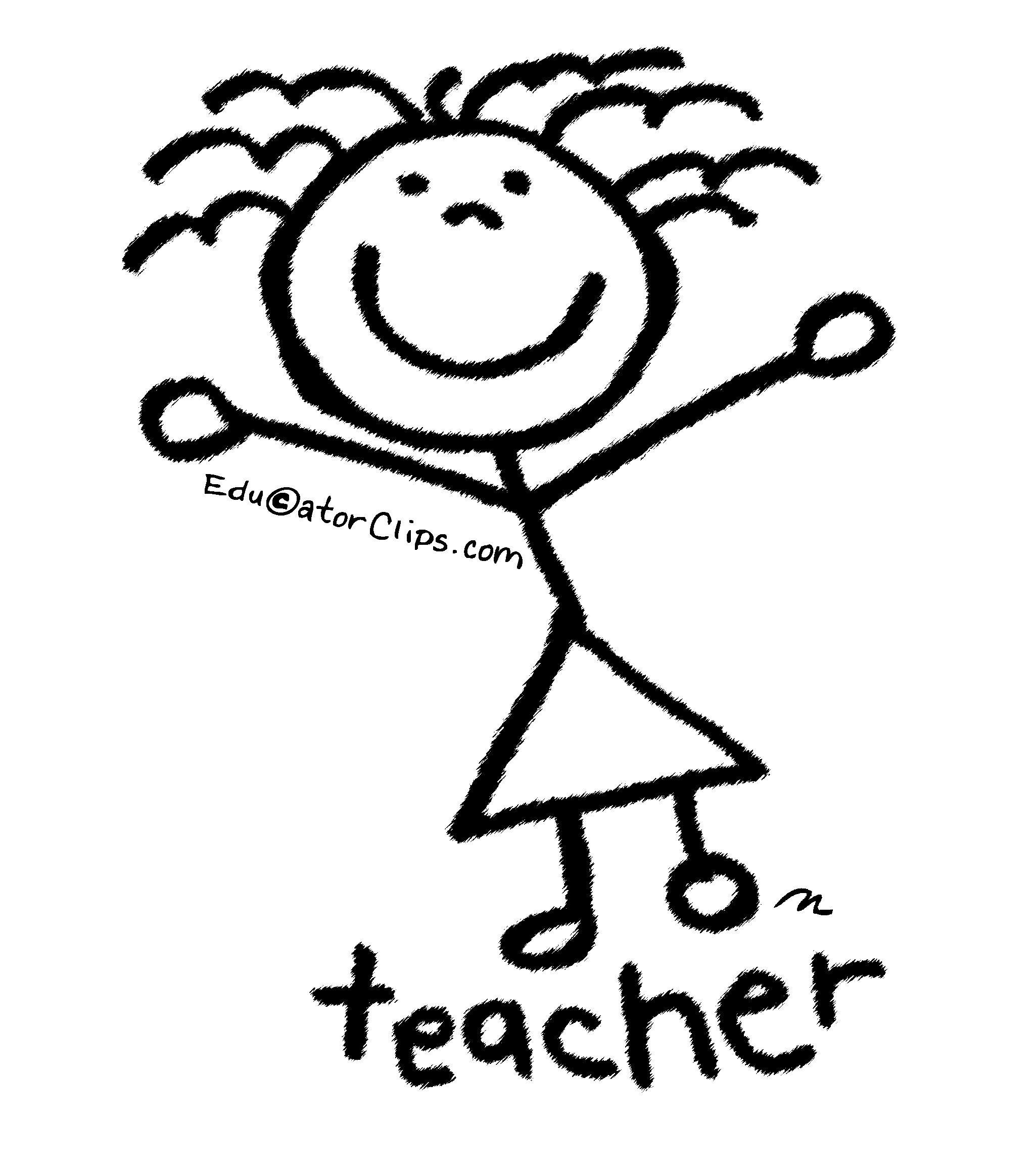 Stick Figure Teacher Clip Art by Mark A. Hicks.