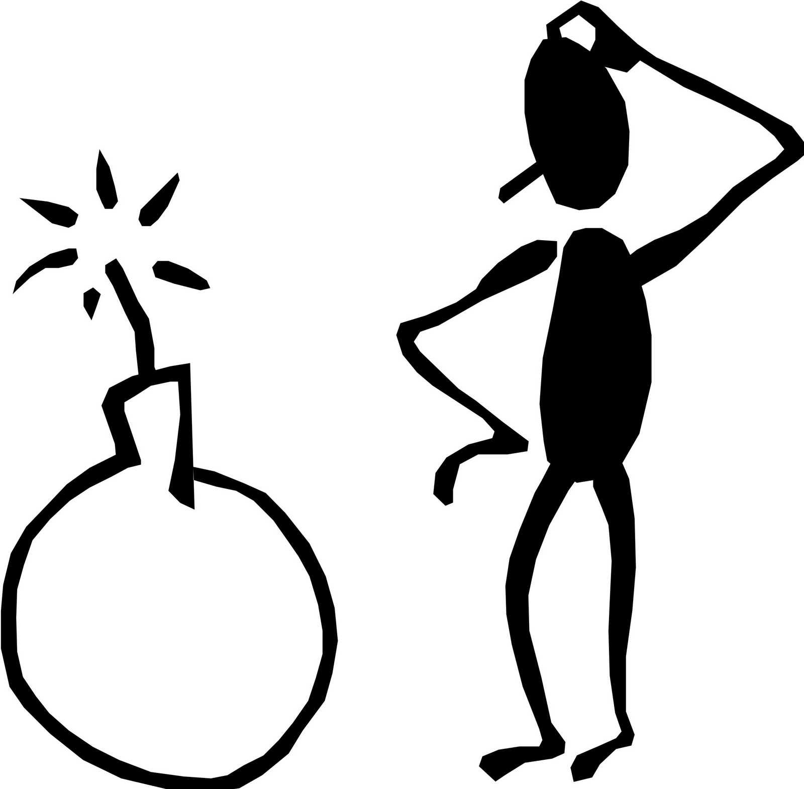 Thinking stick figure clipart clipartix.