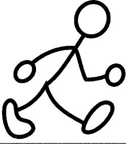 Fitness Walking Stick Clipart.