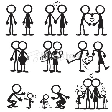 17+ best images about Cards Inspiration Stick Figures.